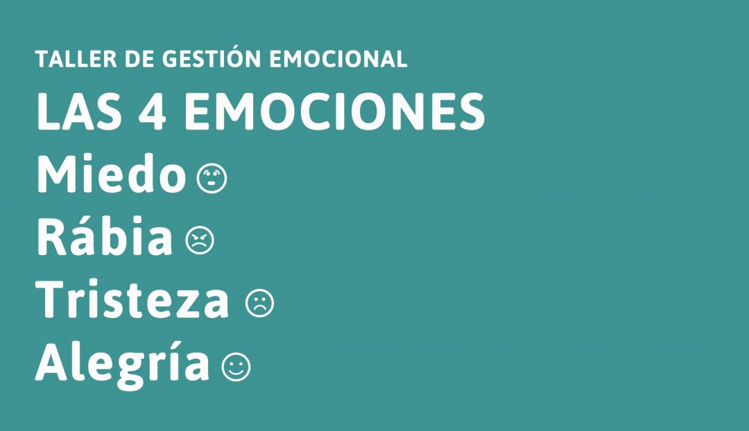 Taller de gestió emocional: Les 4 emocions