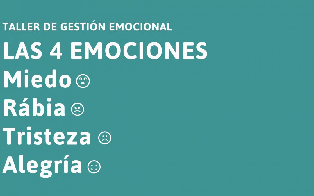 Taller sobre gestión emocional: Las 4 emociones